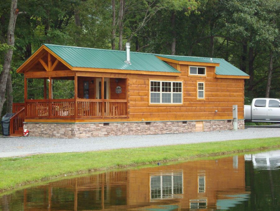 Modular log cabins rv park model log cabins 2 mountain for Rv cottage plans