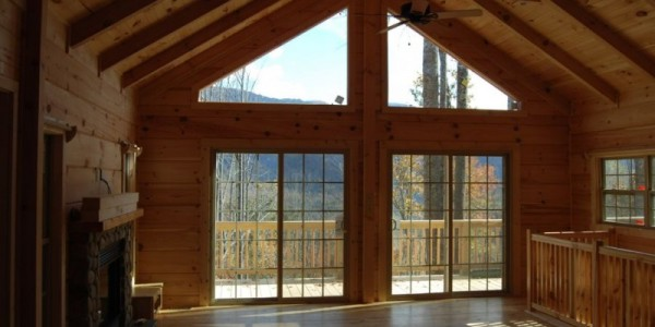 Log Homes with beautiful NC mountain views...