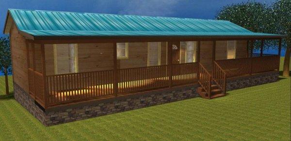 50 39 X 14 39 Log Cabin Modular Home Nc With Rear Kitchen Id
