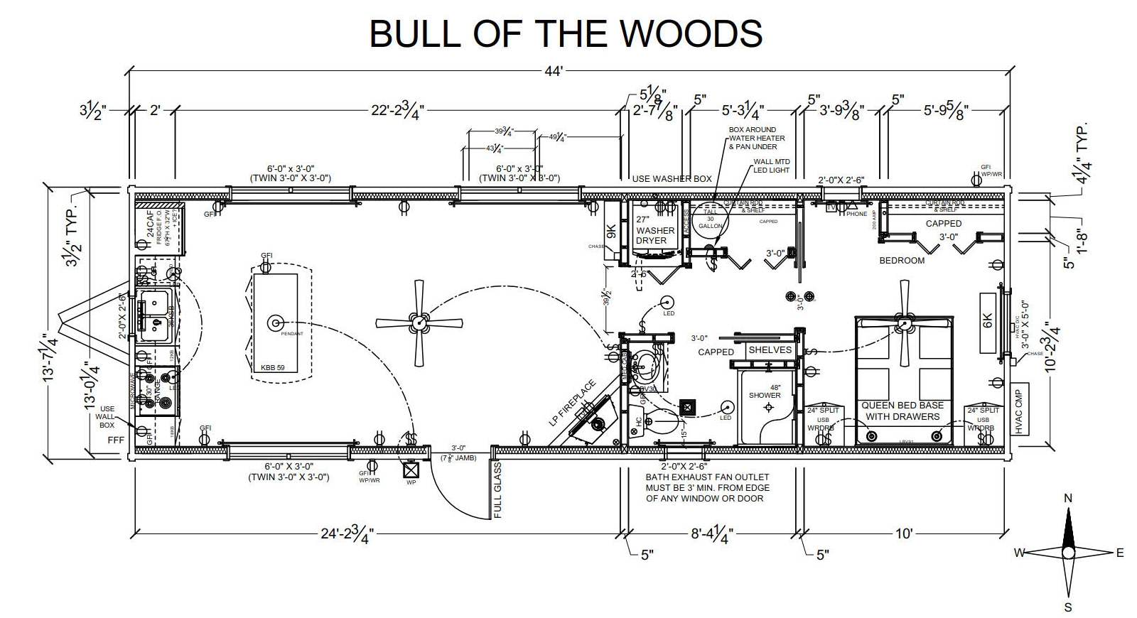 Bull of the Woods - Plan