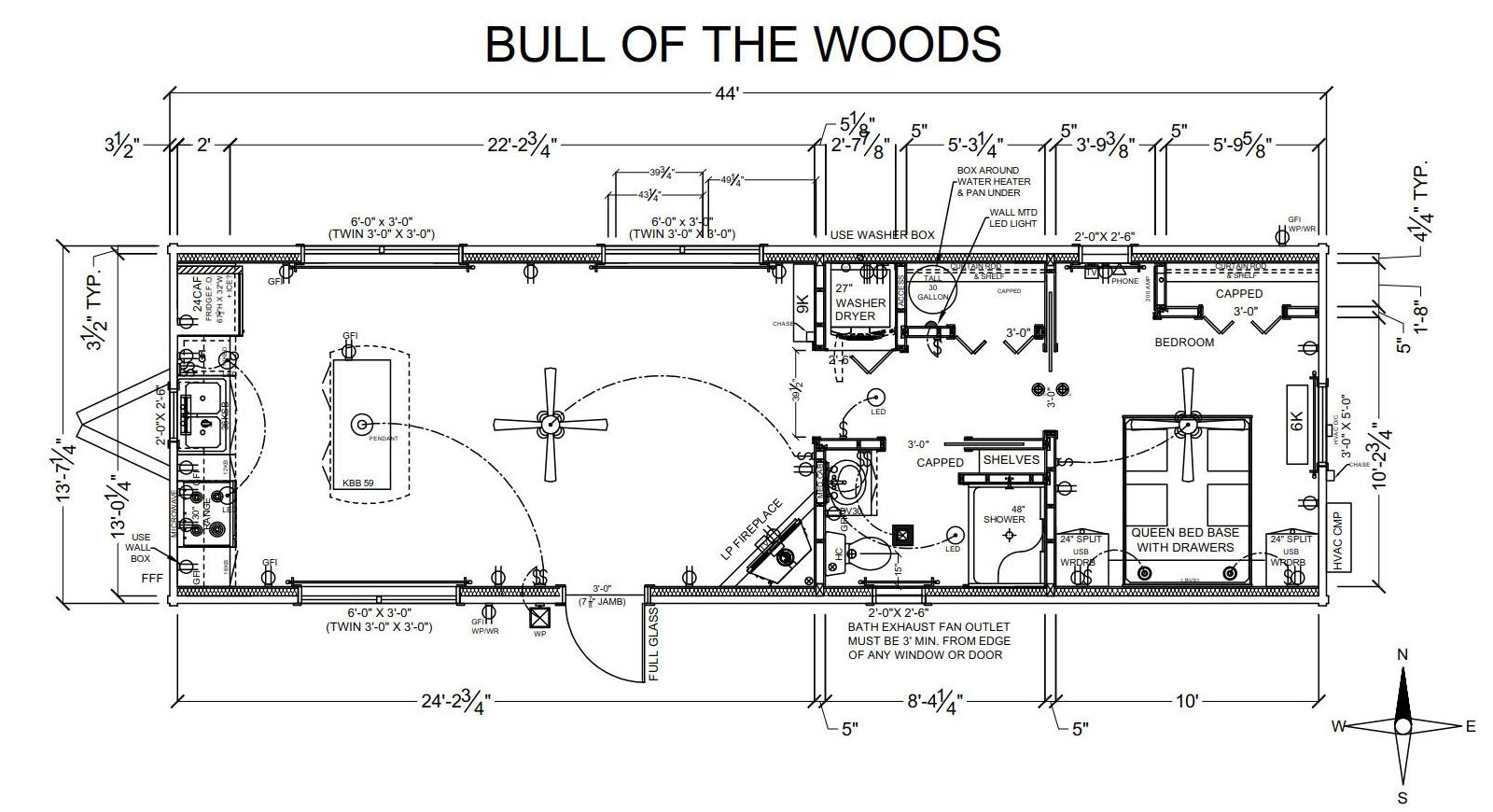 Bull of the Woods - Plan