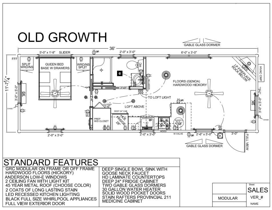 36 39 x 12 39 old growth modular log cabin mountain for 12 x 12 cabin floor plan