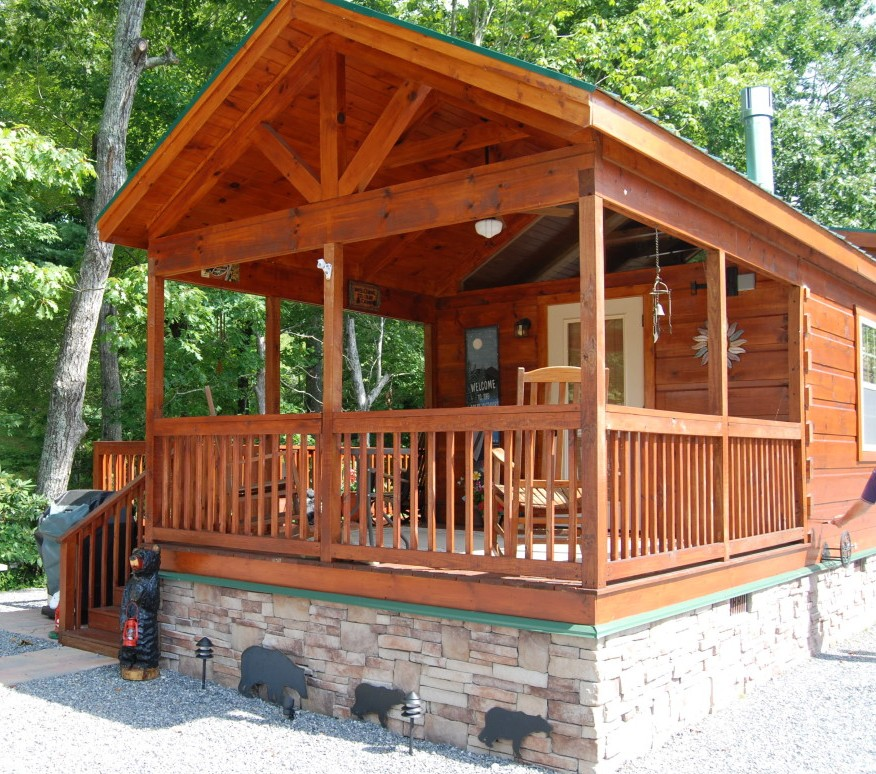 8 porch on frame mountain recreation log cabins for Log cabin porch
