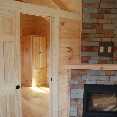 Solid Pine Pocket Doors Mountain Recreation Log Cabins