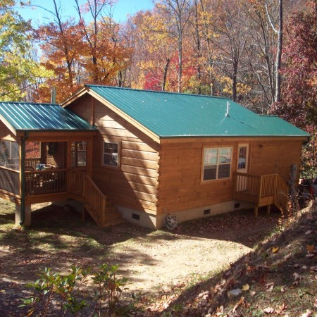 Standard 40 year metal roof mountain recreation log cabins Cabins with metal roofs