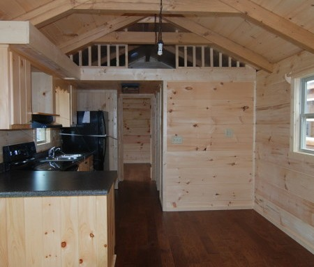 Shed Roof Porch W Gunstock Stain Mountain Recreation Log