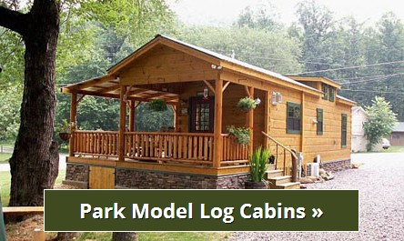 Park Model Log Cabins Rv Park Log Homes Tiny Homes