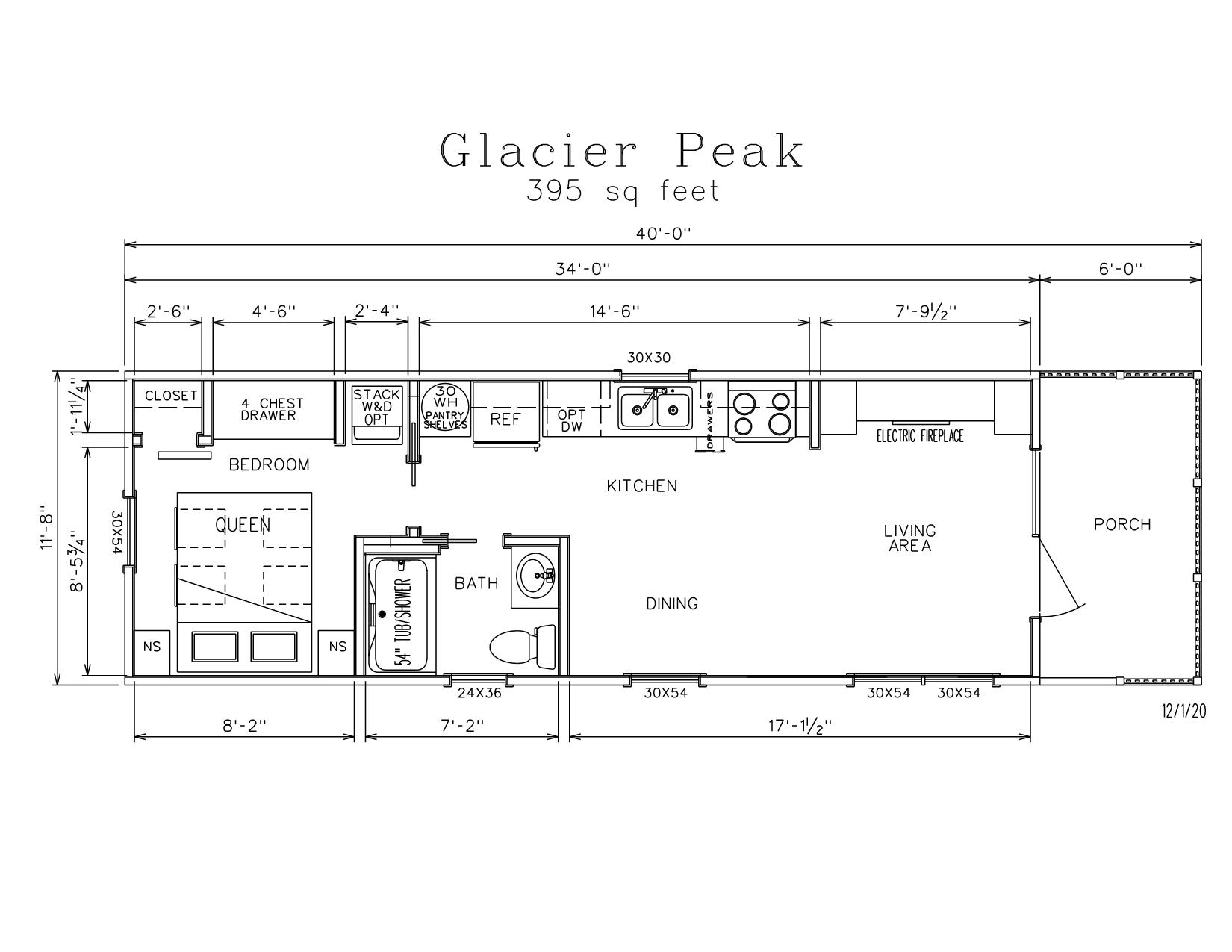 Glacier Peak Park Model Log Cabin