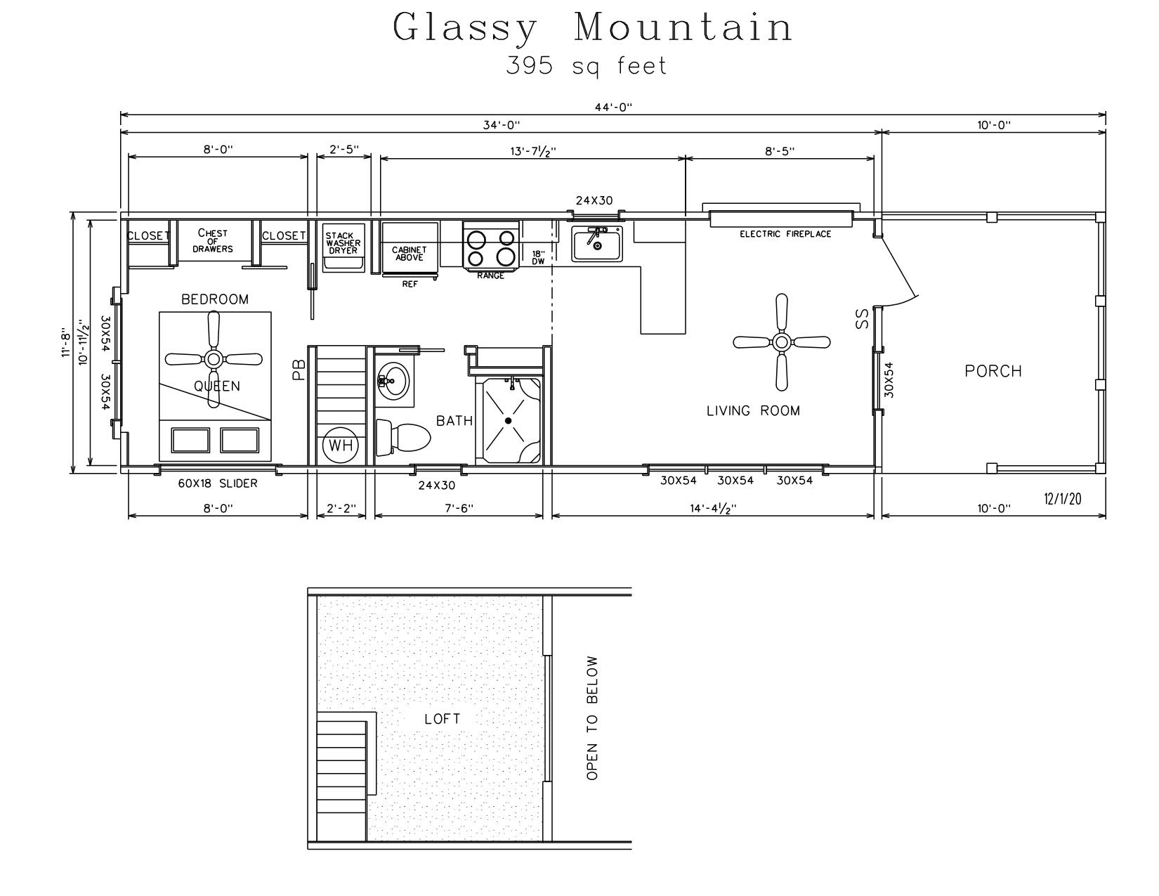 Glassy Mountain Park Model Log Cabin