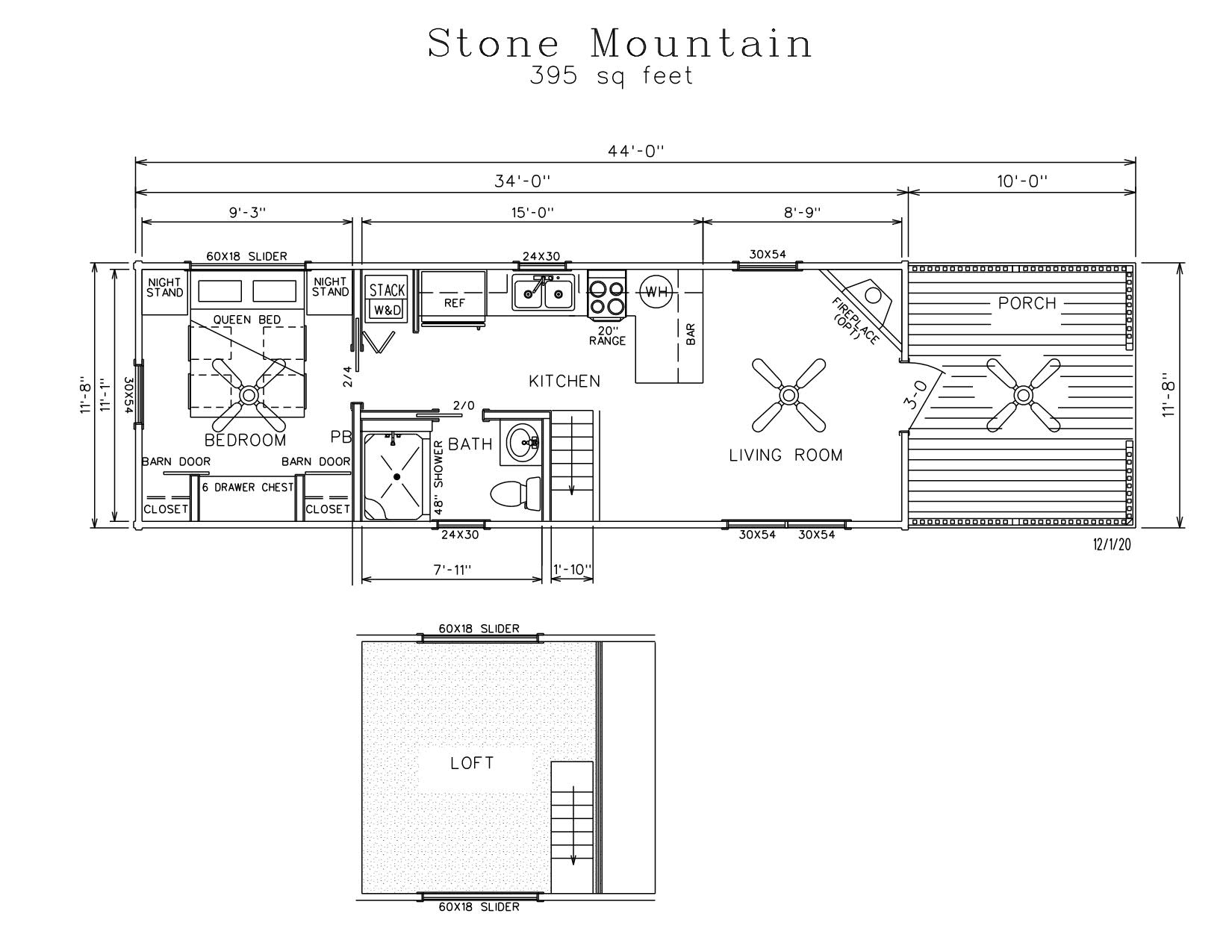 Stone Mountain Park Model Log Cabin