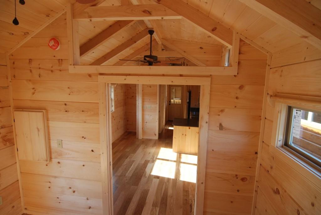 44 X 12 Ace High W Porch Park Model Log Cabin