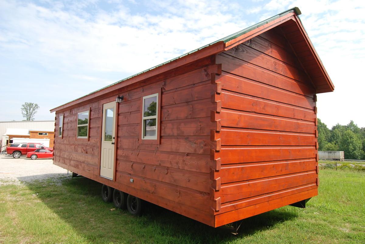 34 X12 Easy Keeper Park Model Log Cabin Mountain