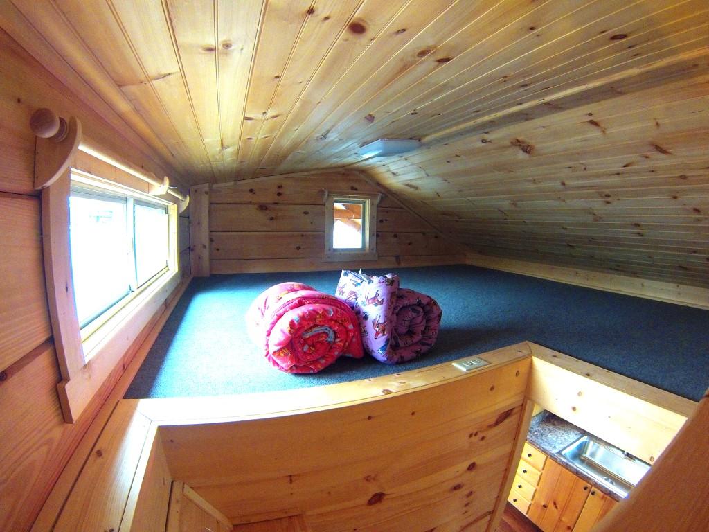 34 X 12 Greyson W Porch Park Model Log Cabin