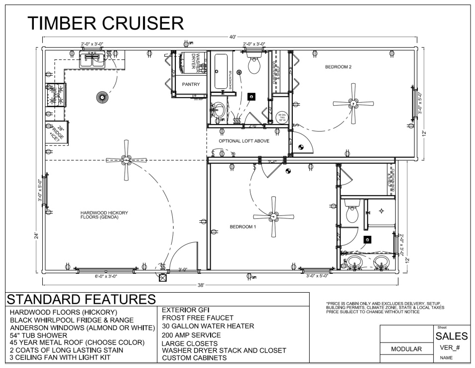 40 39 X 24 39 Timber Cruiser Discontinued Model