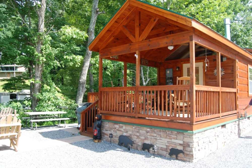 44 X 12 Top Line Park Model Log Cabin Mountain