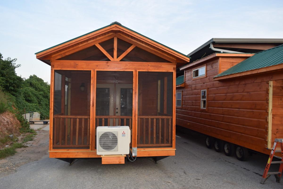 44 39 x 12 39 top line park model log cabin best for Log cabin cost per square foot