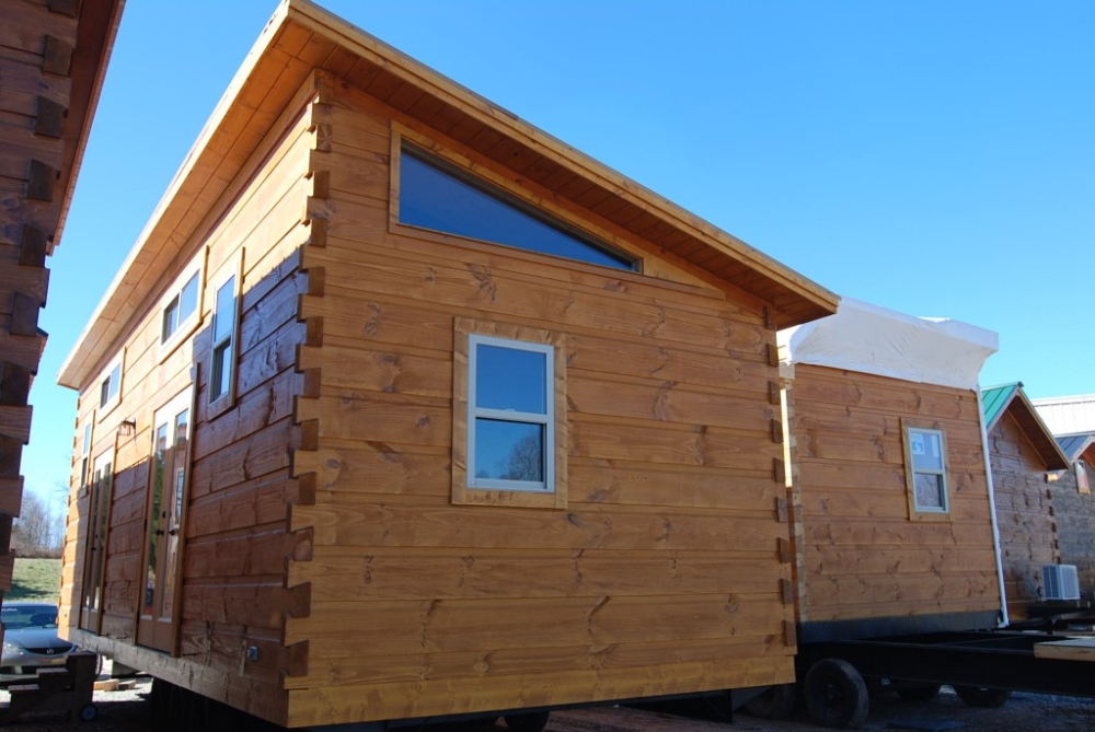 34 39 x 12 39 yearling park model log cabin mountain for Shed roof cabin